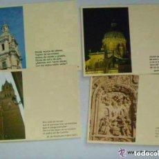 Postales: LOTE DE 4 POSTALES DE SALAMANCA : DISTINTAS CON TEXTO LITERARIO. Lote 147470686