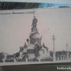 Postales: VALLADOLID - MONUMENTO A COLÓN - GRAFOS, AÑOS 20. Lote 147486674