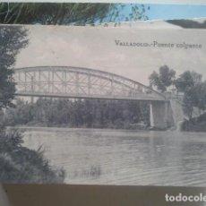 Postales: VALLADOLID - PUENTE COLGANTE - GRAFOS, AÑOS 20. Lote 147486942