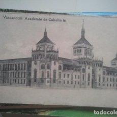 Postales: VALLADOLID - ACADEMIA DE CABALLERÍA - GRAFOS, AÑOS 20. Lote 147487682