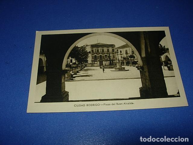 ANTIGUA POSTAL DE CIUDAD RODRIGO (SALAMANCA) - PLAZA DEL BUEN ALCALDE (Postales - España - Castilla y León Antigua (hasta 1939))