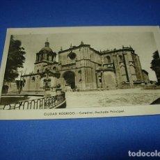 Postales: POSTAL DE CIUDAD RODRIGO, SALAMANCA, CATEDRAL. FACHADA PRINCIPAL. FOTO PAZOS. SIN CIRCULAR.. Lote 147514522