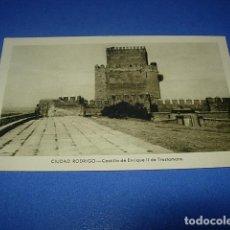 Postales: POSTAL DE CIUDAD RODRIGO, SALAMANCA, CASTILLO DE ENRIQUE II DE TRASTAMARA. FOTO PAZOS. SIN CIRCULAR. Lote 147516114