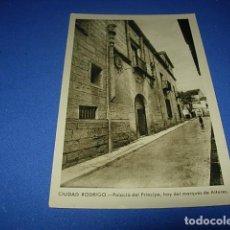 Postales: POSTAL DE CIUDAD RODRIGO, SALAMANCA, PALACIO DEL PRINCIPE, HOY DEL MARQUES DE ALTARES. FOTO PAZOS.. Lote 147516754