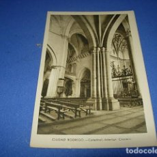 Postales: CIUDAD RODRIGO CATEDRAL INTERIOR CRUCERO. Lote 147517238
