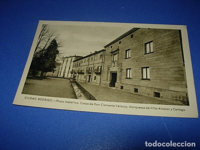 CIUDAD RODRIGO PLAZA ISABELINA.CASAS DE DON CLEMENTE VELASCO, MARQUESAS DE VILLA ALCAZAR Y CARTAGO (Postales - España - Castilla y León Antigua (hasta 1939))