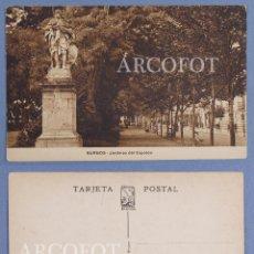 Postales: 1 TARJETA POSTAL DE BURGOS - JARDINES DEL ESPOLÓN - LIBRERÍA ONTAÑÓN - BURGOS. Lote 147525718