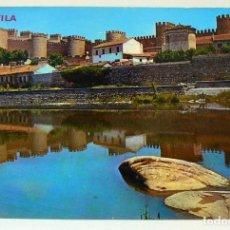 Postales: POSTAL DE AVILA MURALLAS Y RIO ADAJA. Lote 147558366