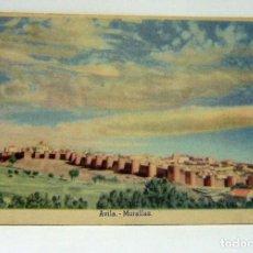Postales: POSTAL DE AVILA MURALLAS - EDICIONES DE LA VICESECRETARIA DE EDUCACION POPULAR. Lote 147558746