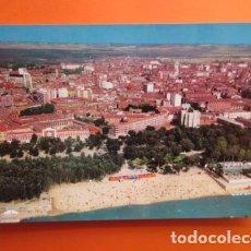 Postales: VALLADOLID AEREA PLAYA SOBRE EL PISUERGA - ALARDE - NO CIRCULADA. Lote 148166234