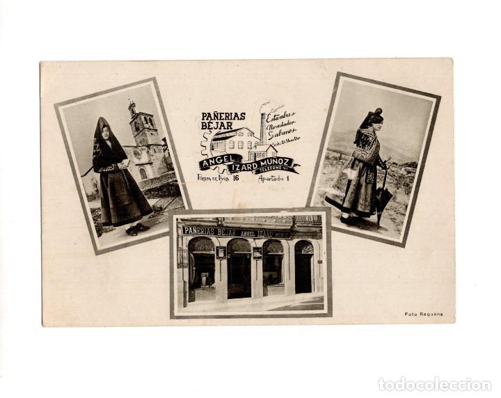 BÉJAR.(SALAMANCA).- PUBLICITARIA DE PAÑERIAS. ANGEL IZARD MUÑOZ. (Postales - España - Castilla y León Antigua (hasta 1939))