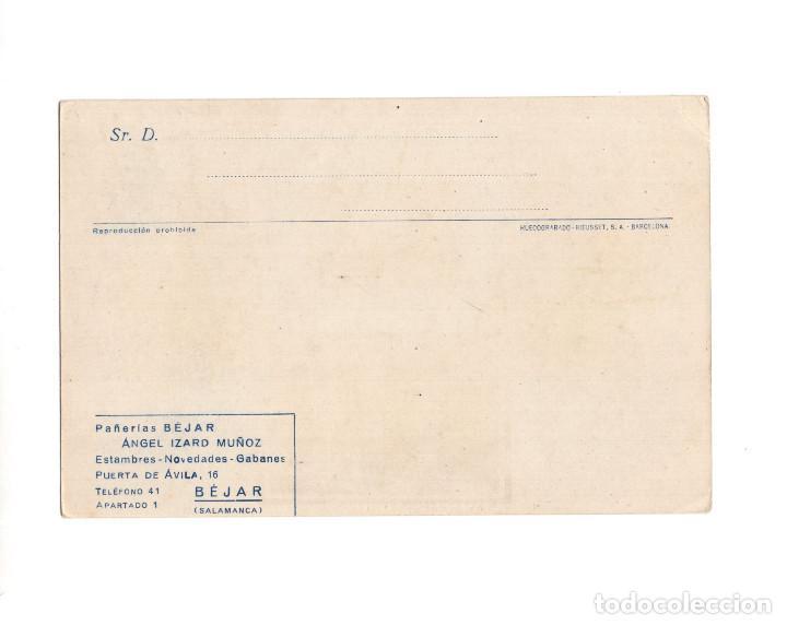 Postales: BÉJAR.(SALAMANCA).- PUBLICITARIA DE PAÑERIAS. ANGEL IZARD MUÑOZ. - Foto 2 - 148552950