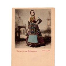 Postales: RECUERDO DE SALAMANCA.- UNA CHARRA. Lote 148569390