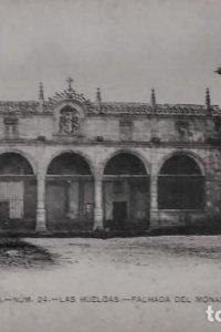 Burgos. Las Huelgas. Fachada del monasterio. Postal.