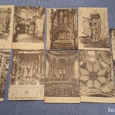 Postales: LOTE DE 9 POSTALES DE BURGOS CATEDRAL IGLESIAS Y OTRO VER FOTOS. Lote 149861246