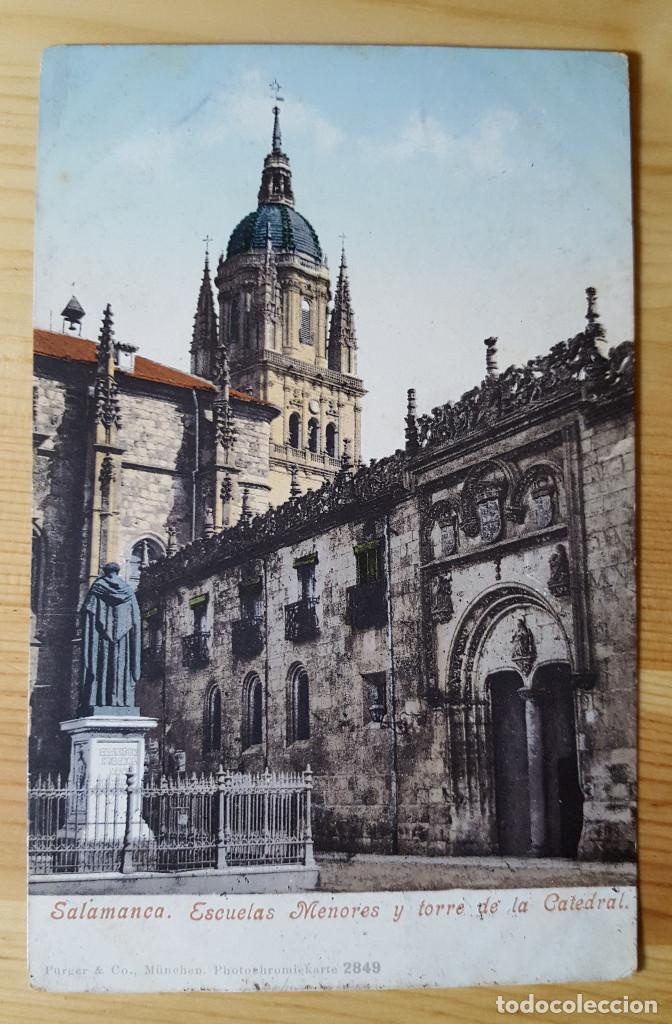 SALAMANCA ESCUELAS MENORES Y TORRES DE LA CATEDRAL ED. PURGER&CO Nº 2849 1911 (Postales - España - Castilla y León Moderna (desde 1940))