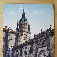 Postales: SALAMANCA ESCUELAS MENORES Y TORRES DE LA CATEDRAL ED. PURGER&CO Nº 2849 1911. Lote 150708890
