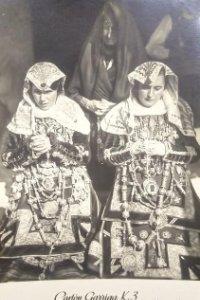 Ofertantes en la Alberca. Salamanca. Publicidad Cartón Garriga 14,5 x 9,5 cm