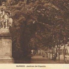 Postales: BURGOS. JARDINES DEL ESPOLÓN. CASA ONTAÑÓN. 9X14 CM. SIN CIRCULAR.. Lote 151403042