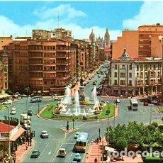Postales: LEÓN - 71 PLAZA DE GUZMÁN EL BUENO Y AVENIDA DE ORDOÑO II. Lote 151622586