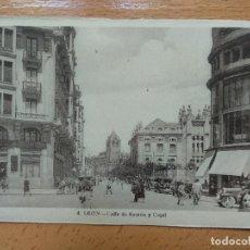 Postales: LEON: CALLE DE RAMON Y CAJAL Nº 4. Lote 151845142