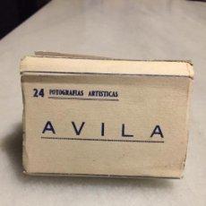 Postales: ANTIGUO SOUVENIR 24 FOTOGRAFIAS ARTISTICAS DE AVILA AÑOS 40-50. Lote 152227214