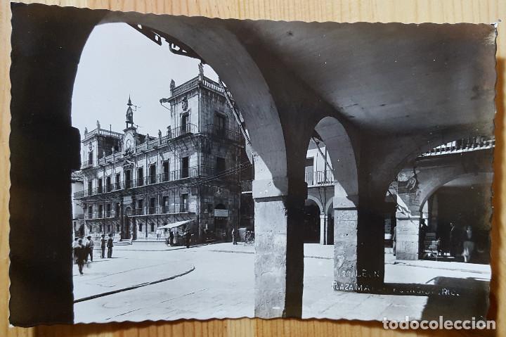 LEON PLAZA MAYOR Y CONSISTORIO ED. ARRIBAS Nº 23 (Postales - España - Castilla y León Moderna (desde 1940))