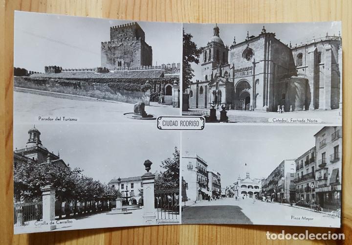 CIUDAD RODRIGO VARIAS VISTAS ED. ARRIBAS Nº 33 PLAZA MAYOR CATEDRAL PARADOR DE TURISMO (Postales - España - Castilla y León Moderna (desde 1940))