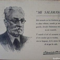 Postales: POSTAL SALAMANCA RETRATO UNAMUNO. Lote 153961522