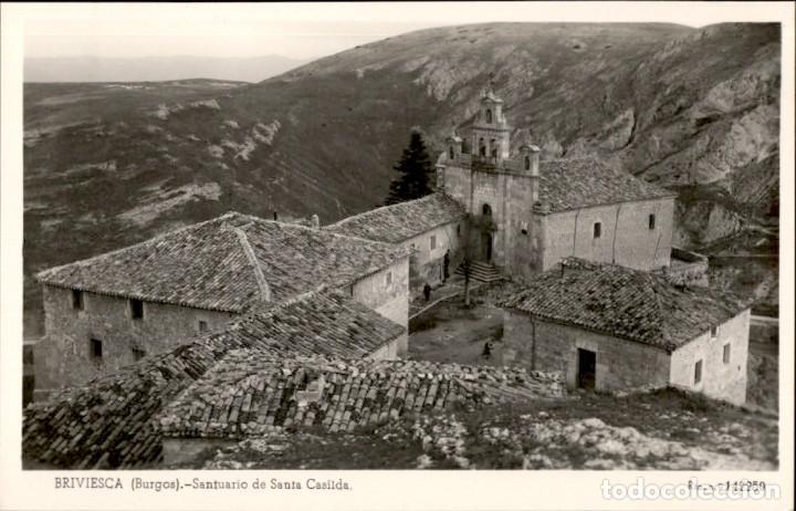 BRIVIESCA – BURGOS – SANTUARIO DE SANTA CASILDA – 1955 – 9X14 POSTAL FOGOGRAFICA (Postales - España - Castilla y León Moderna (desde 1940))