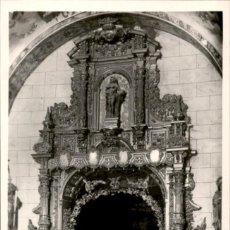 Postales: BRIVIESCA – BURGOS – SANTUARIO DE SANTA CASILDA – ALTAR MAYOR – 1955 – 9X14. FOTOGRAFICA. Lote 154307210