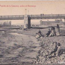 Cartes Postales: LEON - PUENTE DE LA ESTACION SOBRE EL BERNESGA. Lote 154342278