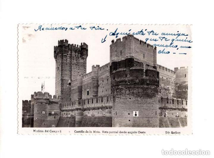 MEDINA DEL CAMPO.(VALLADOLID).- CASTILLO DE LA MOTA.- VISTA PARCIAL DESDE EL ANGULO OESTE (Postales - España - Castilla y León Antigua (hasta 1939))