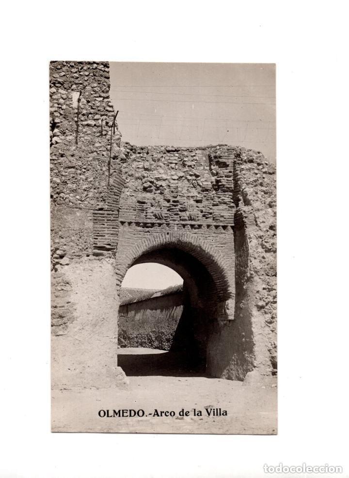 OLMEDO.(VALLADOLID).- ARCO DE LA VILLA. POSTAL FOTOGRÁFICA (Postales - España - Castilla y León Antigua (hasta 1939))
