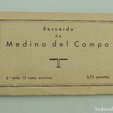 Postales: POSTALES RECUERDO DE MEDINA DEL CAMPO TERCERA SERIE 15 VISTAS ARTISTICAS HUECOGRABADO VELAZQUEZ. Lote 155230770