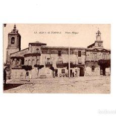 Postales: ALBA DE TORMES.(SALAMANCA).- PLAZA MAYOR. Lote 155307458