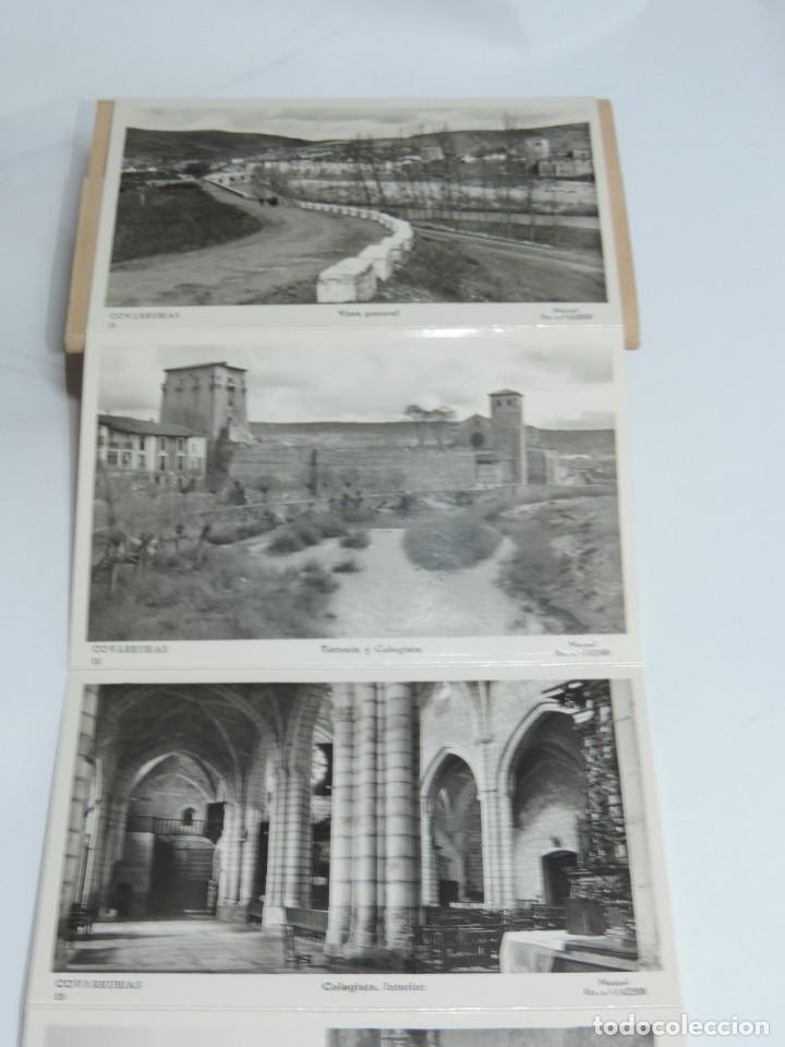 CUADERNILLO DE 10 ANTIGUAS FOTO POSTALES DE LA COLEGIATA Y MUSEO DE COVARRUBIAS, BURGOS, SEGUNDA SER (Postales - España - Castilla y León Antigua (hasta 1939))