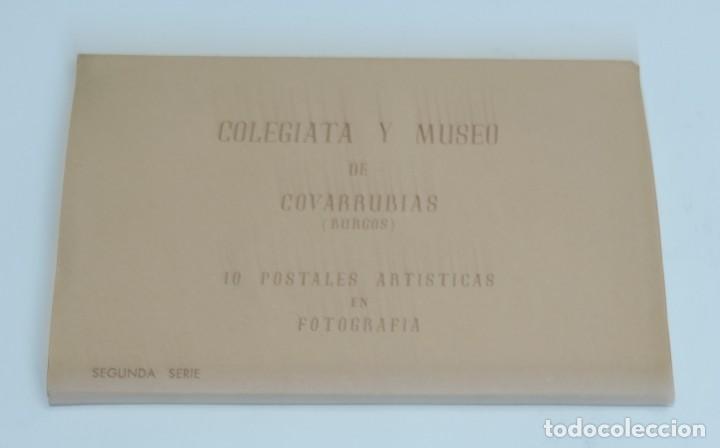 Postales: CUADERNILLO DE 10 ANTIGUAS FOTO POSTALES DE LA COLEGIATA Y MUSEO DE COVARRUBIAS, BURGOS, SEGUNDA SER - Foto 2 - 155577882