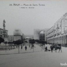 Postales: POSTAL DE AVILA, PLAZA DE SANTA TERESA. L. ROISIN. Lote 155685662