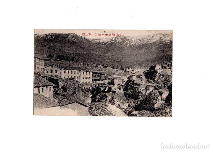 BÉJAR.(SALAMANCA).-EL RÍO Y VARIAS FÁBRICAS (Postales - España - Castilla y León Antigua (hasta 1939))