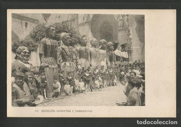 BURGOS-GIGANTES Y CABEZUDOS-116-FOTOTIPIA HAUSER Y MENET-POSTAL ANTIGUA-(57.822) (Postales - España - Castilla y León Antigua (hasta 1939))