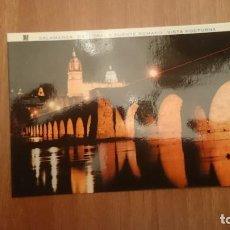 Postales: POSTAL SALAMANCA CATEDRAL Y PUENTE ROMANO VISTA NOCTURNA SIN CIRCULAR. Lote 158256702