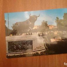 Postales: POSTAL SALAMANCA MONUMENTO AL TORO DE LIDIA ESCRITA. Lote 158257950