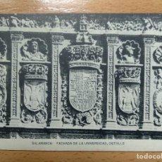 Postales: SALAMANCA FACHADA DE LA UNIVERSIDAD DETALLE, HAUSER Y MENET.. Lote 158387574