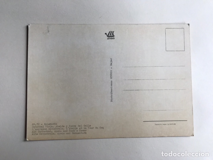 Postales: SALAMANCA. Postal No.72, Catedral vieja. Abside y Torre del Gallo. Edita: Ed. Stvdio (h.1960?) - Foto 2 - 160984345