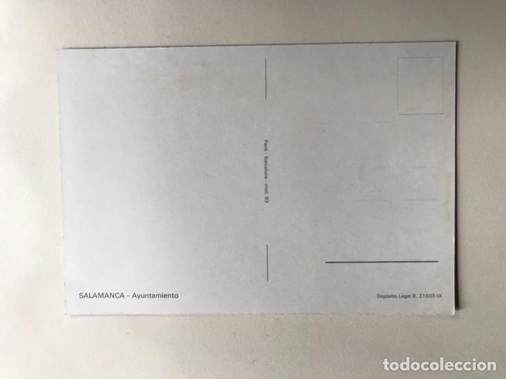 Postales: SALAMANCA. Postal Ayuntamiento. Edita : Fardi Barcelona (h.1960?) Está sin circular. Postal - Foto 2 - 160985014