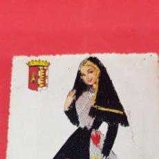 Postales: POSTAL BORDADA VALLADOLID Nº 39 ELSI GUMIER TRAJE REGIONAL ED F MOLINA AÑOS 50. Lote 161010514