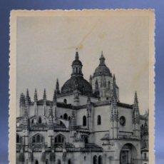 Postales: POSTAL SEGOVIA CATEDRAL HUECOGRABADO FOURNIER FOTO RÍOS SIN CIRCULAR. Lote 161658314