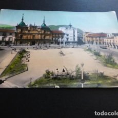 Postales: PONFERRADA LEON PLAZA DEL GENERALISIMO Y AYUNTAMIENTO. Lote 163748610