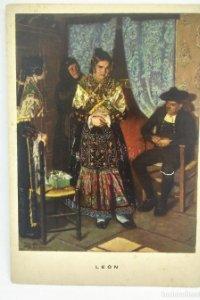 León. Preparativos de boda. Las regiones Españolas. Nº 11 R. López Cabrera 15,7x11,1cm